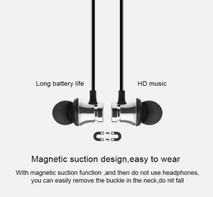 Magnetic attraction Bluetooth Earphone Sport running Stereo Wireless Bluetooth Headset Noise reduction Earbuds Earphone with mic