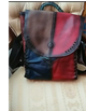 Handmade Genuine Leather women Backpack casual suede cowhide bag retro color