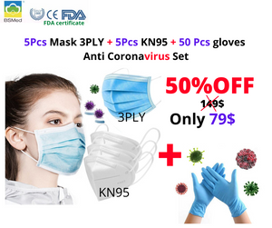 KN95 and 3PLY Anti Virus Face Mask PM2.5 Surgical FFP2 Bacteria Proof Antiviral Face Masks
