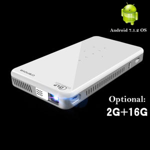 CRENOVA 2019 Newest Mini Projector X2 With Android 7.1OS WIFI Bluetooth (2G+16G), Support 4K Video Portable 3D Projector Beamer