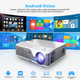 Full HD 1080P Projector Android WiFi LED Native 1920 x 1080P 3D Home Theater Smart Phone Beamer
