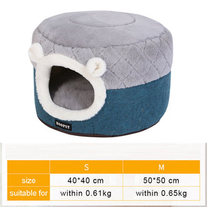 Pet Cat Dog Bed Warming Dog House Soft Material Sleeping Bag Pet Cushion Puppy Kennel