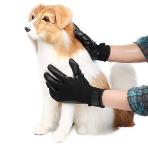 Pet Grooming Gloves Dog Cat Hair Cleaning Brush Comb Rubber Five Fingers Deshedding Pet Gloves For Dog Animals Bathing Supplies