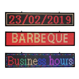 7-Color Indoor P10 led Sign programmable USB&WiFi Rolling Information LED Display