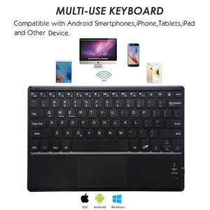 ANRY TY3300 Touchpad Executive Keyboard Case for 9, 10, 10.1, 10.5 Inch Tablets 2-in-1 Bluetooth Wireless Keyboard with Touchpad