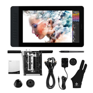 GAOMON PD1561 15.6 Inches IPS HD Graphics Drawing Tablet Monitor 72% NTSC Color Gamut with 8192 levels Battery-free pen