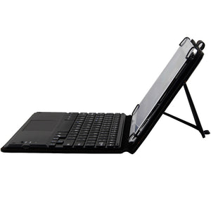 Touchpad Executive Keyboard Case for 9, 10, 10.1, 10.5 Inch Tablets 2-in-1 Bluetooth Wireless Keyboard with Touchpad (Black)