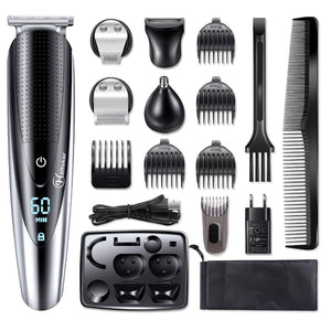 HATTEKER Professional Hair Clipper for Men Rechargeable electric razor 5 in 1 Hair Trimmer hair cutting machine beard trimer 598