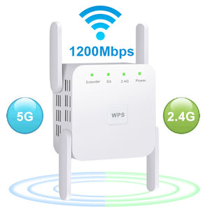Wireless WiFi Repeater Wi Fi Booster 5Ghz Wi-Fi Amplifier 1200 M Signal WiFi Long Range Extender 802.11ac Access Point