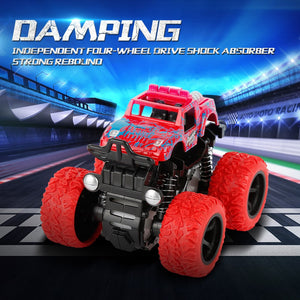 Inertia Four-Wheel-Drive off-Road Vehicle Children Simulation Model Car Anti-Shatterproof Toy Car Baby Car Model
