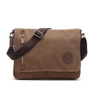 Canvas Leather Crossbody Bag Men Military Army Vintage Messenger Bags Shoulder Bag Casual Travel school Bags
