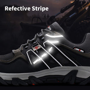 MODYF Women's Safety Shoes Work Steel Toe Shoes Multifunction Boots Breathable Hiking Refective Stripe Protection Footwear