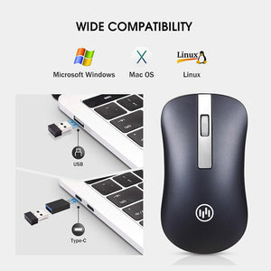 Bluetooth Wireless Mouse Silent Gaming Mouse Rechargeable Computer Mouse Wireless 2.4Ghz Ergonomic PC Mice USB Mause for Laptop