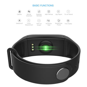 "Letike F1 Plus Colorful 0.96"" OLED Screen Waterproof Smart Bracelet With Continuous Heart Rate Monitoring Sports Fitness tracker"