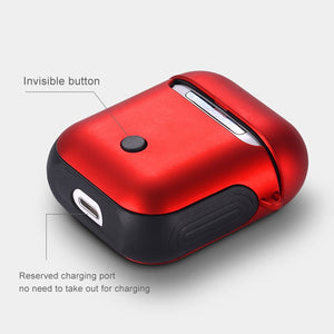 IKSNAIL Earphone Case For Apple AirPods Cover For True Wireless Bluetooth Headphone Air Pods Pouch Protective AirPod Accessories