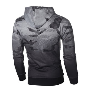 FeiTong Camo Sweatshirt Men's Long Sleeve Camouflage Style Hoodie Pullover Top Blouse Military Tracksuit Hooded Sweatshirt Male