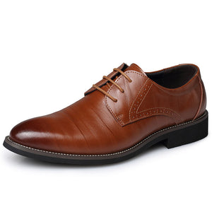 Newest Summer Fashion Men Casual Shoes Classic Genuine Leather Flats Male Formal Oxford Dress Shoe Luxury  Plus Size 47
