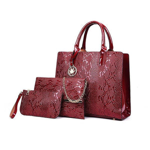 3Pcs Luxury Bag Sets Luxury Handbags Women Bags Designer Female Shoulder Bags For Women Handbags 2019 Purses And Famous Brands Tote