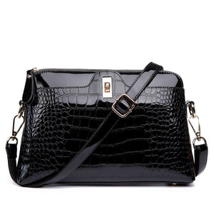 FLYONE Brand Shoulder Bag Women Handbags Crocodile Leather Fashion Shopper Totes Female Luxurious Gift for Girls Evening Clutch