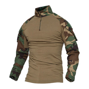 Men Camouflage Tactical T-shirts Summer Army Combat T Shirt Cotton Military T-shirt Airsoft Paintball Hunt Clothing Men