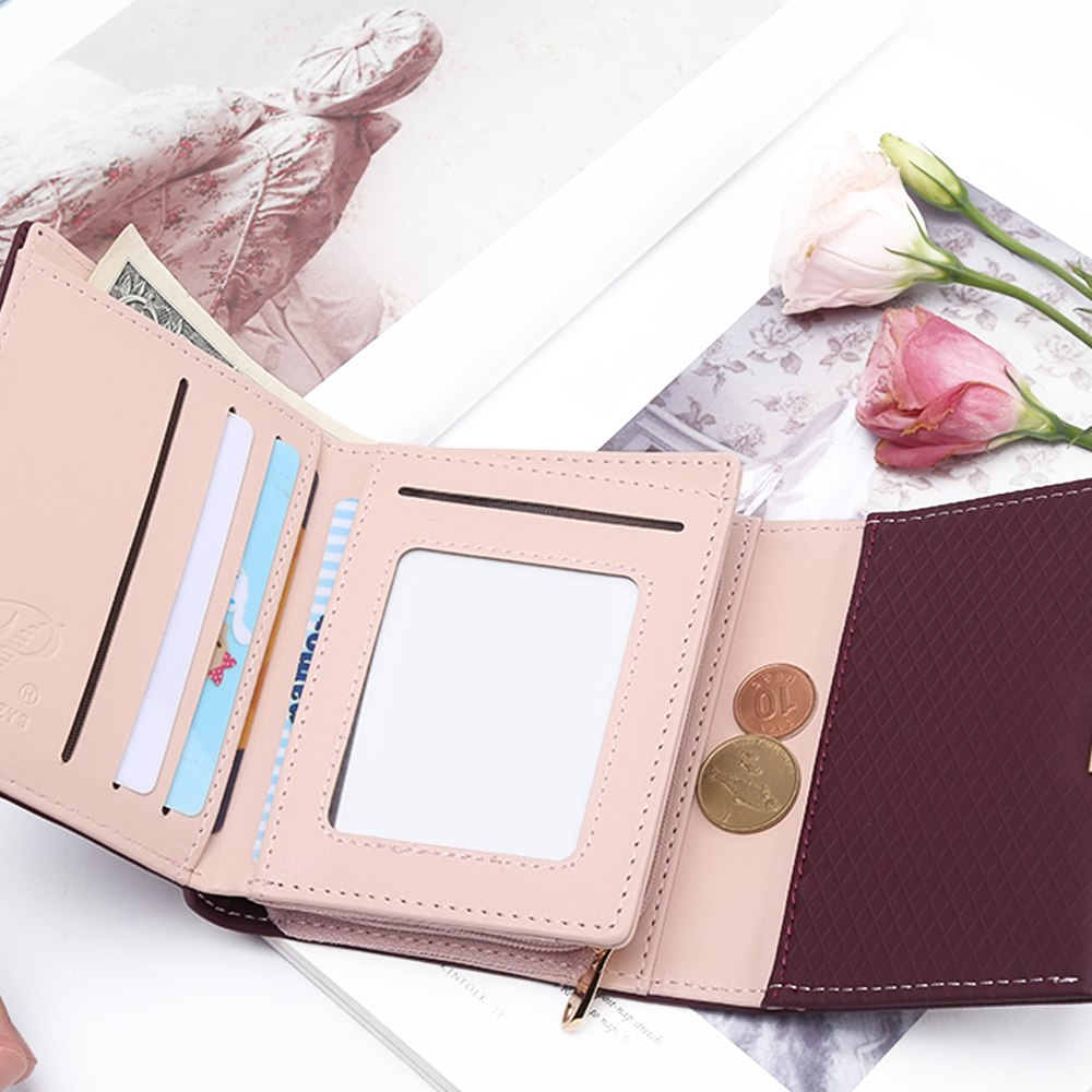 a8d8f71184a 2018 Luxury Wallet Female Leather Women Leather Purse Plaid Wallet Ladies  Hot Change Card Holder Coin