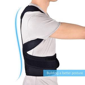 Adjustable Back Brace Posture Corrector Back Support Shoulder Belt Lumbar Spine Support Belt Posture Correction For Adult