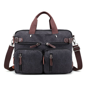 Travel Duffle Vintage Canvas Laptop Backpack Female Multifunction Travel Bag Male School Satchel Large Capacity Casual Bagpack