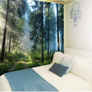 Beautiful Natural Forest Printed Large Wall Tapestry Cheap Hippie Wall Hanging Bohemian Wall Tapestries Mandala Wall Art Decor