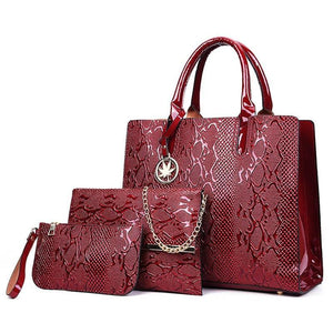 New 3Pcs Bag Sets Luxury Handbags Women Bags Designer Female Shoulder Bags For Women Handbags 2019 Purses And Famous Brands Tote
