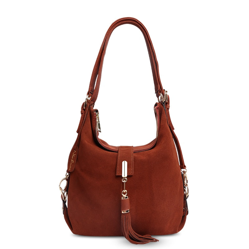 9180cf342b40 Louise Women Real Split Suede Leather Shoulder Bag Female Leisure Nubuck  Casual Handbag Hobo Messenger Top-handle bags
