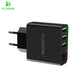 USB Charger 15W 3 Ports+LED Display Portable Phone Chargers Fast USB Charging Travel Adapter For iPhone X 8 Samsung S8