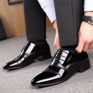 2019 Newest Oxford Shoes For Men Office Shoes Patent Leather Business Dress Shoes Men Flats Zapatos Hombre Black Derby Shoes