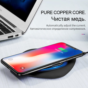 HOCO Smart Qi Wireless Charger for iPhone X XS Max XR 10W Fast Desktop Wireless Charging for Samsung Galaxy S9 S8  xiaomi mix2s