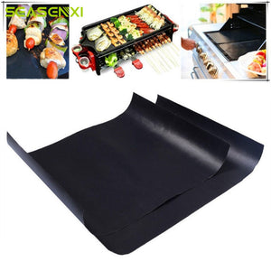 Barbecue Grill Mat Reusable Non-stick BBQ Cooking Baking Mats Covers Sheet Foil BBQ Liner Tool 33*40cm 0.2mm Thick