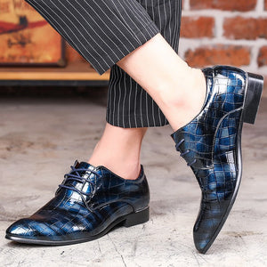 Merkmak 2018 Men Shoes Oxfords PU Leather For Men Wedding Bussiness Formal Party Shoes Chaussure Homme Shoes Big Size 38-48