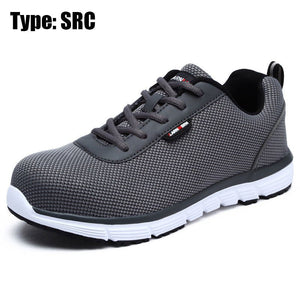 Newest Mens Steel Toe Safety Work Shoes For Men Lightweight Breathable Anti-Smashing Non-Slip Anti-static Shoes Protective Shoes
