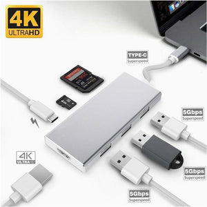 TYPE C to HDMI 4K/ USB3.0 / SD Card/TF Card/PD Adapter USB C converter for Laptop for MacBook