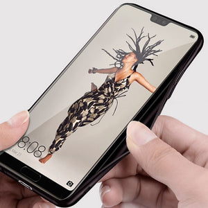 for Huawei P20 case cover P20 Pro back cover silicone edge fabric protect case coque MOFi original for huawei P20 Lite case