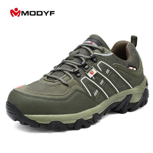Newest Mens Steel Toe Safety Work Shoes For Men Lightweight Breathable Anti-smashing Anti-puncture Non-slip Protective Shoes