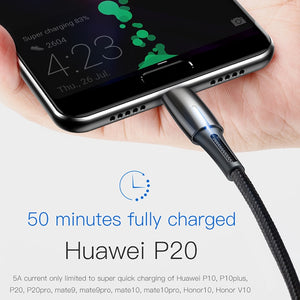 Baseus Quick Charge 3.0 USB C Type C Cable 5A for Huawei P20 Lite Pro 2A USB Charging Cable for samsung galaxy s9 s8 plus
