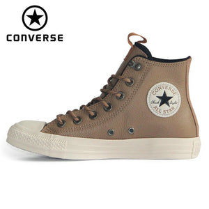 NEW Converse Chuck Taylor All Star leather Autumn and winter Thick warm style unisex sneakers Skateboarding Shoes 162385C