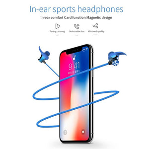 BESIUNI Wireless Bluetooth Headphones TF Card Wireless Earbuds Sport headset MagneticNeckband Noise Cancelling Earphones