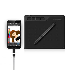 6.5 x 4 Inches 8192 Level Battery-free Pen Support Android Windows Mac Digital Graphic Tablet for Drawing & Game OSU