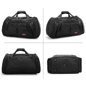 Large Capacity Men Travel Bag Waterproof Male Bags Fashion Duffle Handbag Mens Big Luggage Business Bag Solid Black Duffel Bags
