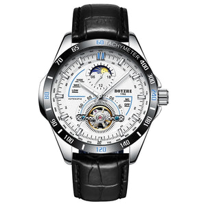Watch Automatic Mechanical Fashion Top Brand Sport Tourbillon Moon Phase Stainless Steel relogio masculino