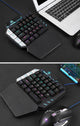 35 Keys Single One Hand Mechanical Gaming Keyboard USB Wired For PUBG LOL Gamer Ergonomic illuminated Hand Gaming Computer
