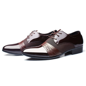 2019 Best n Newest Classical Fashion Wedding Flats Shoes Men Dress Luxury Men'S Business Oxfords Casual Shoe Black / Brown Leather