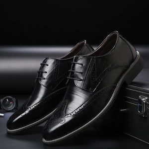 Newest Brand business mens dress shoes genuine leather tan black Italian fashion male shoes