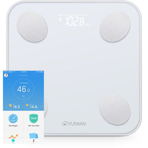 Original Xiaomi YUNMAI Mini 2 Balance Smart Body Fat Weight Scales Health Digital Weighting Scale English APP Control