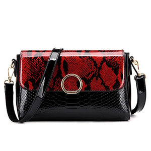 Leather Mini Shoulder Bag Ladies Handbags Crossbody Messenger Bag for Women Snake Pattern Bags Small Evening Clutch
